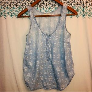 Anthropologie cloth and stone Aztec chambray Sz M